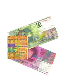 Swiss Frenc Banknotes Royalty Free Stock Photo