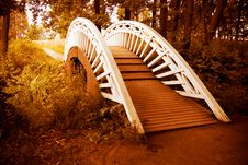Bridge To Autumn Royalty Free Stock Image