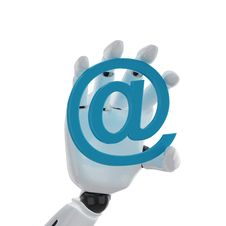 Free Robotic Hand Hold A Email Symbol Royalty Free Stock Photography - 6830567