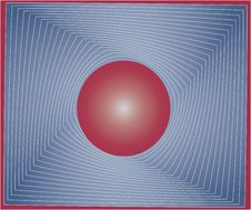 Free Red Sphere In A Grey Square Stock Photos - 6830773