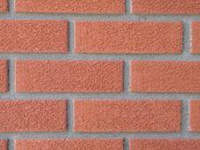 Free Orange Brick Wall Royalty Free Stock Photos - 6830878