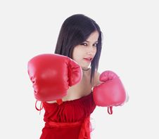 Free Asian Female Boxer Stock Photos - 6831063