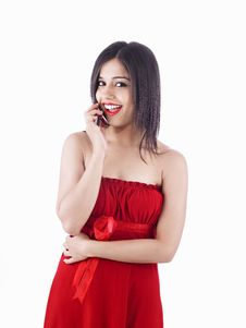 Free Asian Female On The Phone Stock Images - 6831144