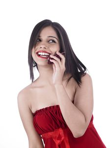 Free Asian Female On The Phone Stock Image - 6831151