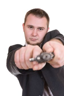 Free Man With Gun Stock Photography - 6832172