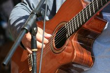 Free Man Playing A Acoustic Guitar Stock Photos - 6832233