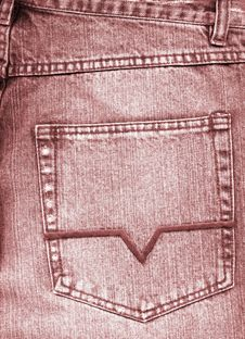 Free Close-up Of Old Grey Jeans Pocket Stock Images - 6832434