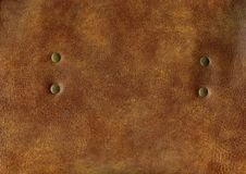 Free Natural Brown Leather With Rivet Stock Photography - 6832462