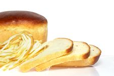 Fresh Bread Bread And Cheese Stock Photo