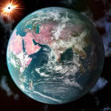 Free Earth Blue Planet In Space Stock Photography - 6832822