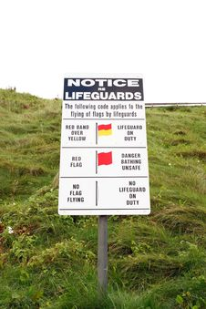 Free Notice Re Lifeguards Stock Images - 6832864