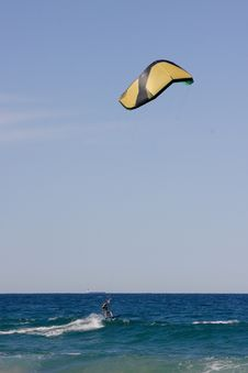Free Kite Surfing At The Beach Stock Photography - 6833052