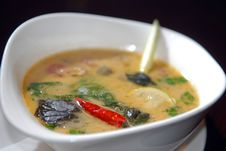Sharp Thai Soup Stock Photo
