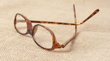 Free Horn-rimmed Glasses On Material Stock Images - 6833574