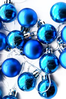 Free Blue Christmas Bulbs Stock Photography - 6833822