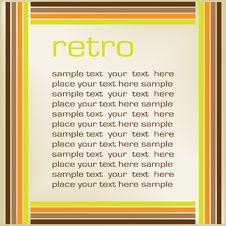 Grungy Retro-background Stock Images