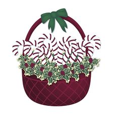 Free Christmas Basket Red Stock Photography - 6835142