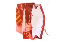 Christmas Shopping Bag Stock Images