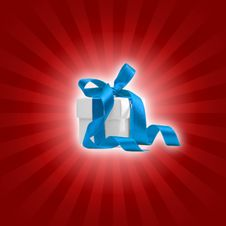 Free Present Box With Colored Background Royalty Free Stock Photos - 6835528