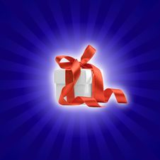 Free Present Box With Colored Background Royalty Free Stock Photos - 6835538