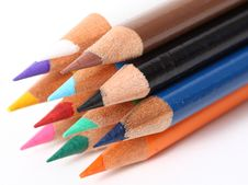 Free Colored Pencils Royalty Free Stock Images - 6836239