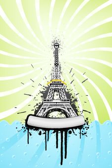 Free Eiffel Tower Ink Explosion Royalty Free Stock Images - 6836499