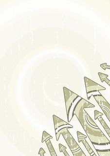 Free Retro Arrows Stylish Sheet Stock Photography - 6836592