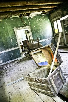 Free Abandoned House With Old Trunk Royalty Free Stock Image - 6836956