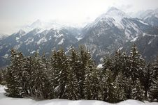 Free Winter Scene Mayrhofen Austria Royalty Free Stock Photos - 6837448