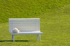 Free White Bench Royalty Free Stock Photo - 6838125