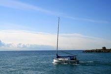 Free Yacht On Sea Royalty Free Stock Photos - 6838478