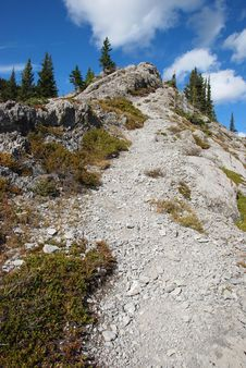 Free Hiking Trail On The Mountain Stock Photography - 6838582