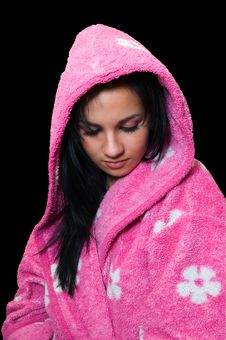Free Emo Girl In A Pink Dressing Gown Stock Images - 6838614
