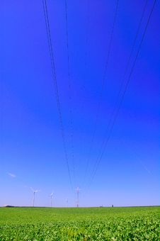 Free Power Cables, Pylons, And Turbines Stock Images - 6838804