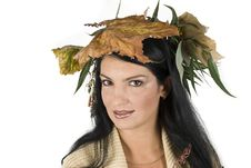 Miss Autumn Royalty Free Stock Photo