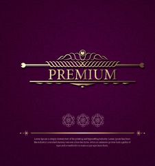 Free Vintage Beautiful Background With Ornament In Vector. Classic Lu Royalty Free Stock Images - 68305409