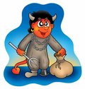 Free Devil With Sack Stock Images - 6849994