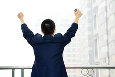 Free Man Stand Before Building Royalty Free Stock Photo - 6840675