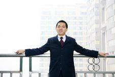 Free Man Stand Before Building Royalty Free Stock Photo - 6840695