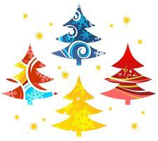 Free Christmas Trees Royalty Free Stock Image - 6840836