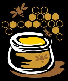 Honey And Bees Royalty Free Stock Images