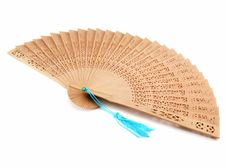 Free Wood Fan Isolated Stock Image - 6841031