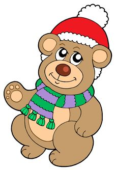 Free Christmas Teddy Bear Stock Photo - 6841040