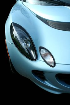 Isolated Blue Sports Car On Black Royalty Free Stock Photos