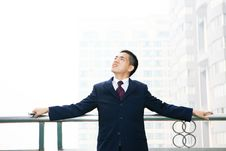 Free Man Stand Before Building Royalty Free Stock Image - 6841696