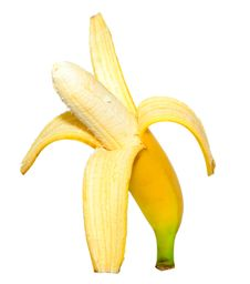 Free Ripe Peeled Banana Royalty Free Stock Images - 6841729