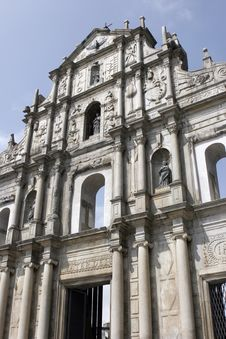 Ruins Of St. Paul In Macau Royalty Free Stock Image