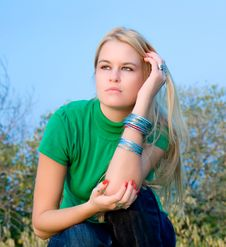 Free Beautiful Blondy Woman Posing Royalty Free Stock Photo - 6841905