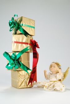 Free Doll And Gifts Stock Images - 6841964
