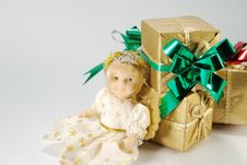 Free Doll And Gifts Royalty Free Stock Image - 6841986